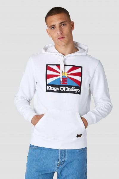 """Kings Of Indigo Nara Hoody """"Rising Sun Flag White"""" K200155042"""