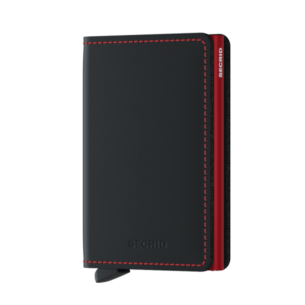 "SECRID Slimwallet Matte ""Black Red"""