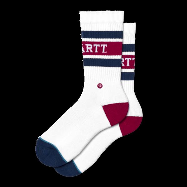 "Carhartt WIP X Stance Strike Socks ""White / Blue / Cardinal "" I027799"