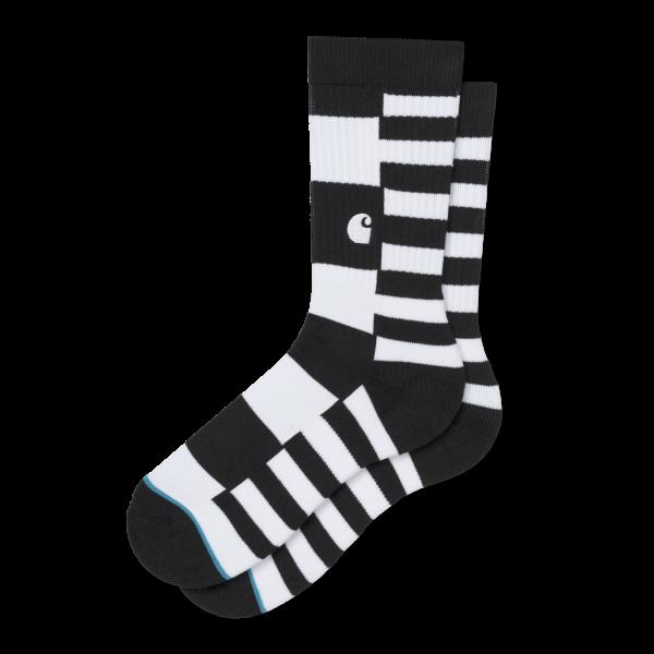 "Carhartt WIP X Stance Barkley Socks ""Black Stripe"" I027803"