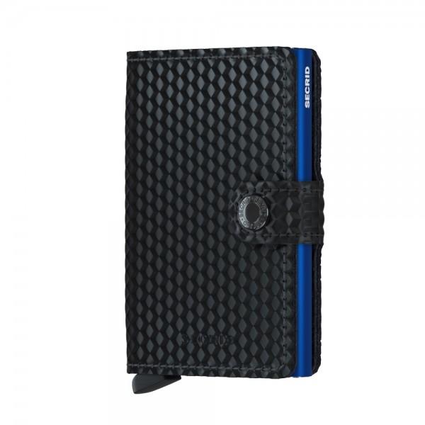 """SECRID Miniwallet Cubic """"Black-Blue"""" 8938"""