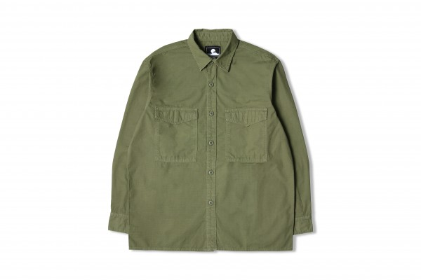 "Edwin Big Shirt LS ""Military Green garment"" I027886"