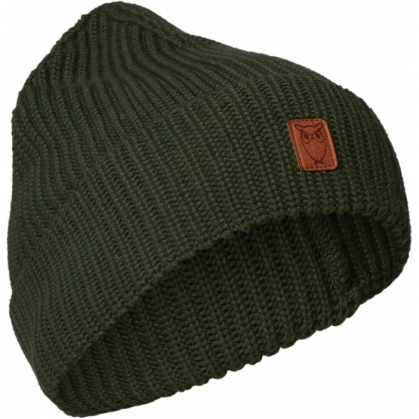 "Knowledge Cotton Ribbing Hat ""Green Forest"" 82214"