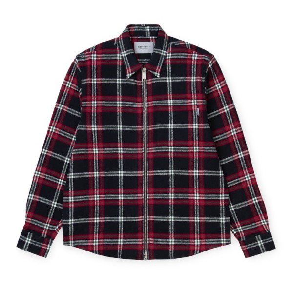 "Carhartt L/S Bryan Shirt ""Bryan Check, Black/Rocket"" I028232"