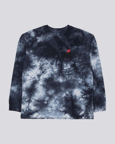 "Edwin Sunset on Mt Fuji 2 T-Shirt Longsleeve ""Navy Blazer - batik garment dyed"" I028710"
