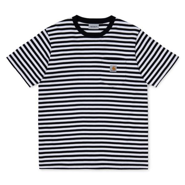 "Carhartt WIP S/S Haldon T-Shirt ""Stripe Black White"" I027066"