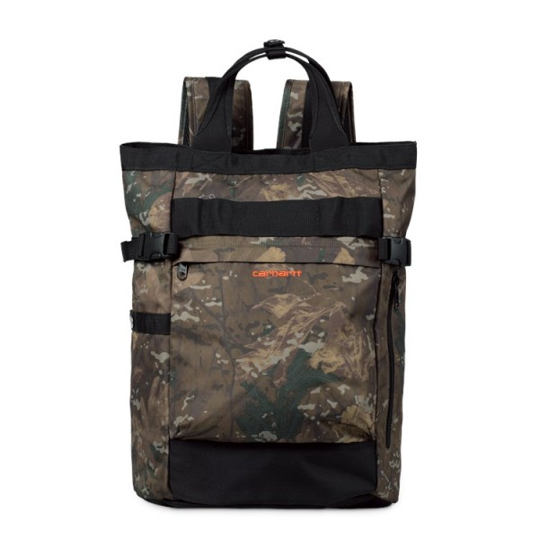 "Carhartt WIP Payton Carrier Backpack ""Camo Combi / Black / Safety orange"" I026874"
