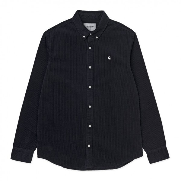 "Carhartt WIP L/S Madison Shirt ""Dark Navy / Wax"" I025247"