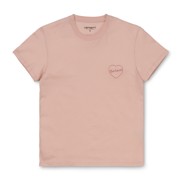 "Carhartt WIP W´S/S Tilda Heart T-Shirt ""Powdery / Etna Red"" I027827"