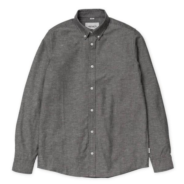 """Carhartt WIP L/S Kyoto Shirt """"Dark Fir stone washed"""" I018069"""
