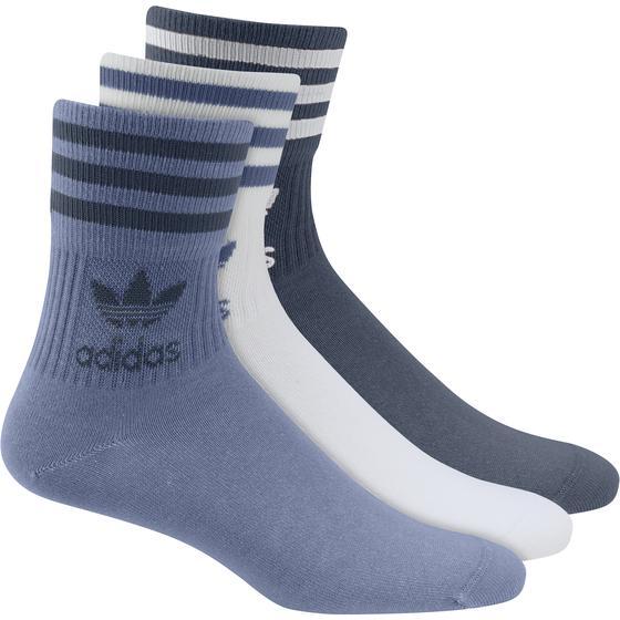 Mid Cut Solid Crew Sock 3 Pack