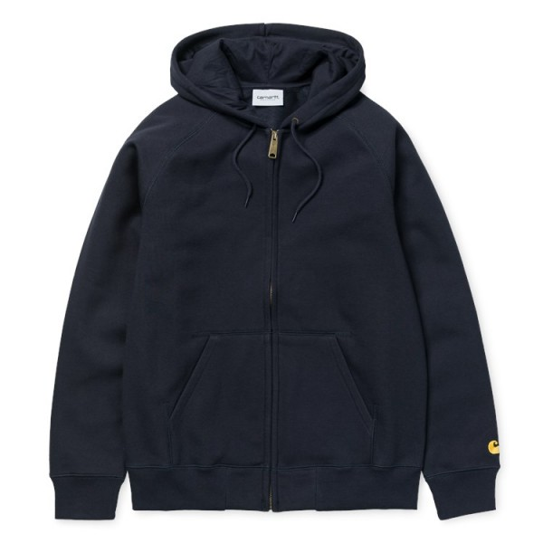 "Carhartt WIP Hooded Chase Jacket ""Dark Navy/Gold"" I026385"