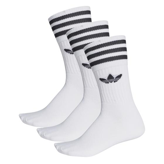 "adidas Solid Crew Sock ""white / black"" S21489"