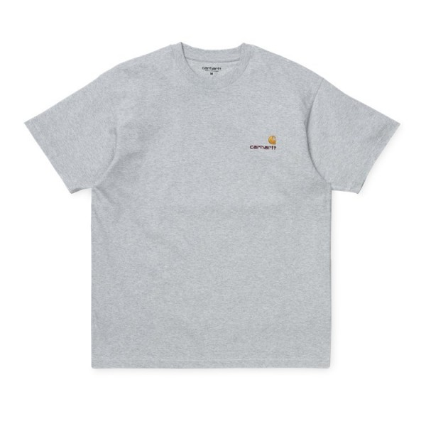 "Carhartt WIP S/S Amercian Script T-Shirt ""Ash Heather"" I025711"