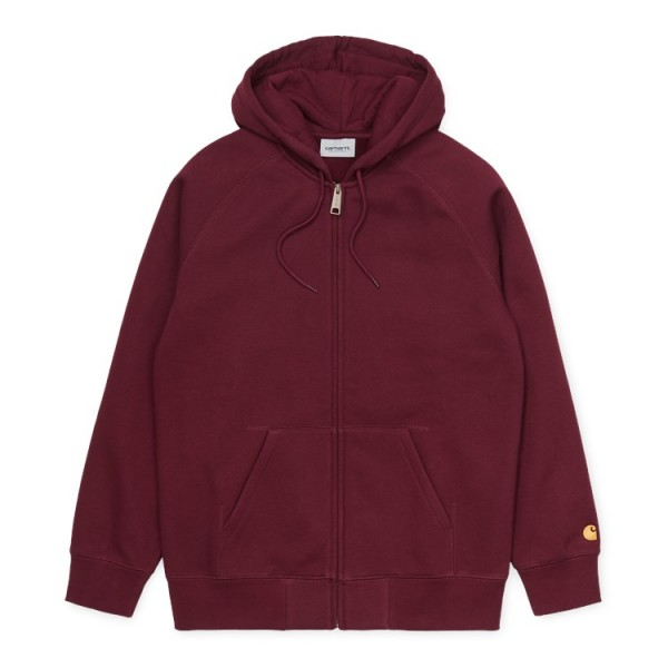 "Carhartt WIP Hooded Chase Jacket ""Bordeaux/Gold"" I026385"