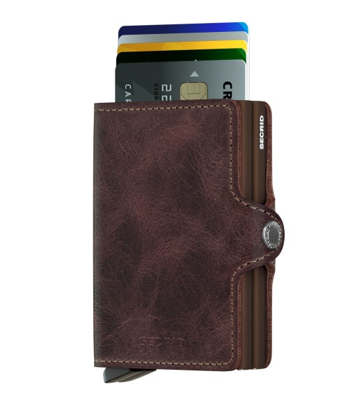 "SECRID Twinwallet Vintage ""Chocolate"""