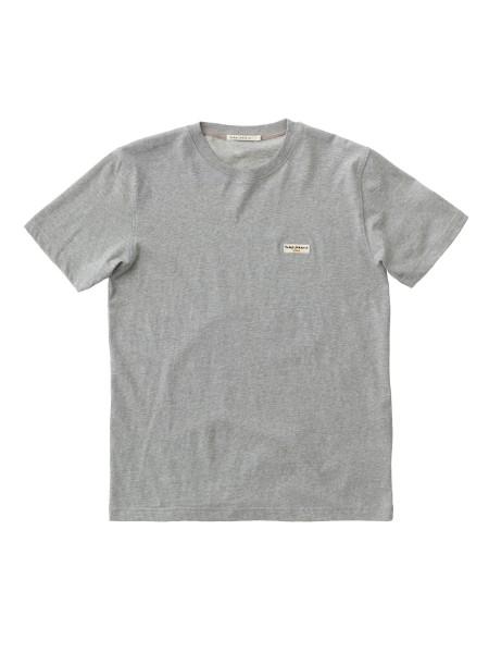 """Nudie Jeans Daniel Logo Tee """"Grey Melange"""" 131613"""