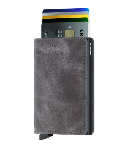 "SECRID Slimwallet Vintage ""Grey-Black"""