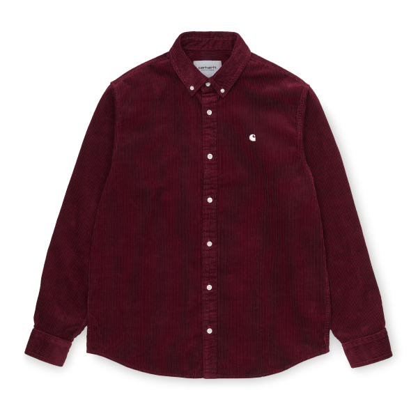 "Carhartt WIP L/S Madison Cord Shirt ""Bordeaux / Wax"" I025247"
