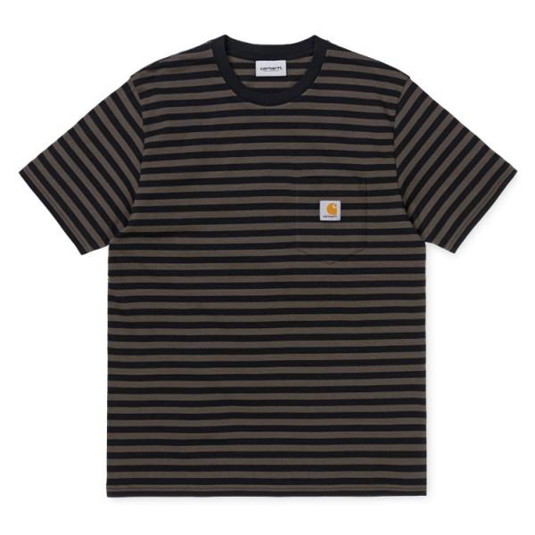 "Carhartt WIP S/S Haldon T-Shirt ""Stripe Black Cypress"" I027066"