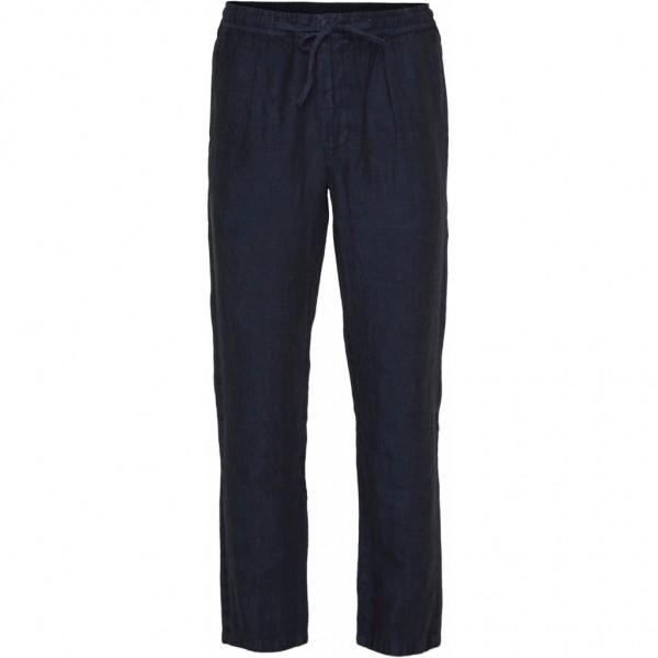 "Knowledge Cotton FIG loose Linen Pant ""Total Eclipse"" 70239"