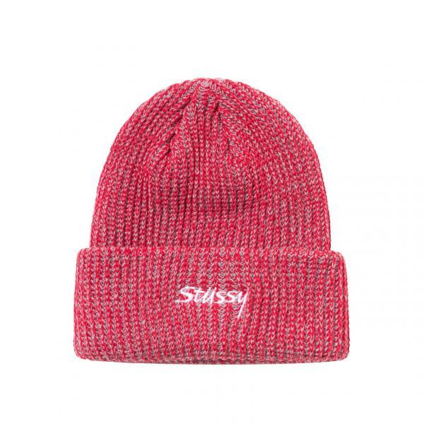 "Stussy 2 Tone Knit Short Beanie ""Red"" 132987 / 0601"