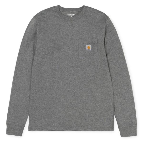 """Carhartt WIP L/S Pocket T-Shirt """"Dark Grey Heather"""" I022094"""