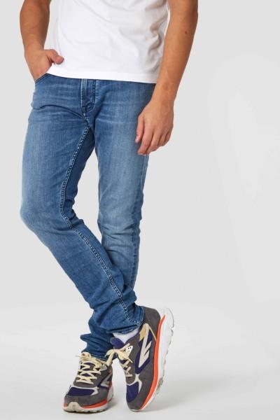 "Kings Of Indigo Charles Mid Rise Slim Jeans ""Myla Marble Blue"" K190751200"