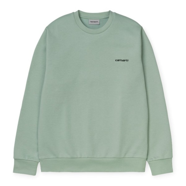 "Carhartt WIP Script Embroidery Sweat ""Frosted Green"" I027678"