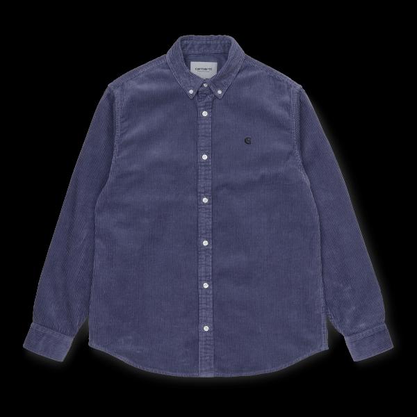"Carhartt WIP L/S Madison Cord Shirt ""Cold Viola / Black"" I025247"