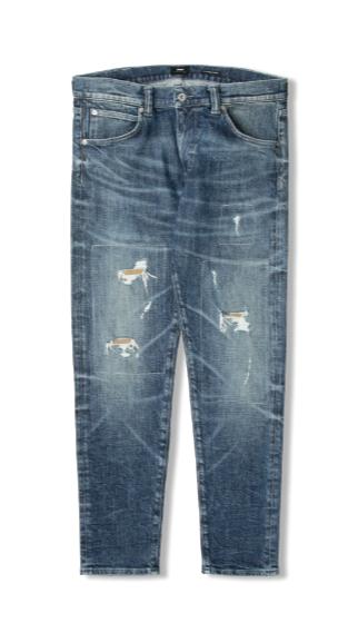 """Edwin ED-85 CS Yuuki Blue Denim Jeans """"Blue kiyo repair wash"""" I027223"""