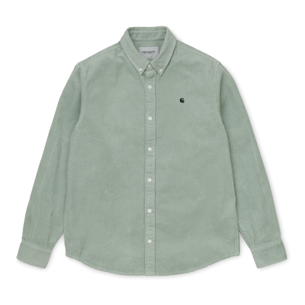 "Carhartt WIP L/S Madison Cord Shirt ""Frosted Green / Black"" I025247"