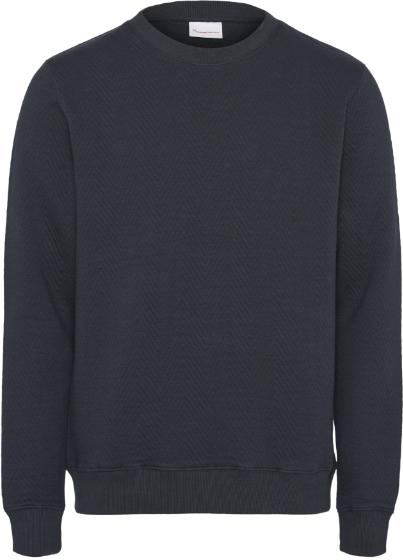 Quilted O-Neck Sweater