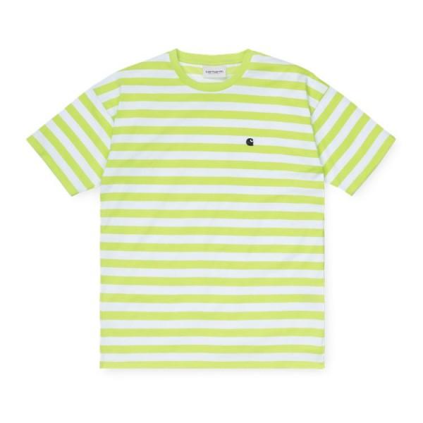 "Carhartt WIP W´S/S Scotty T-Shirt ""Scotty Stripe,Lime/White"" I027841"