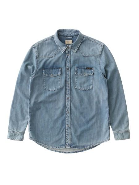 "Nudie Jeans George Denim Shirt ""Blue Crush"" 140630"