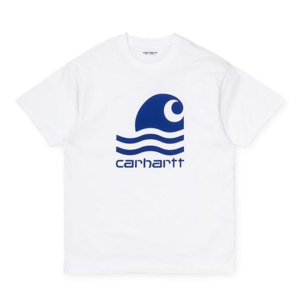 """Carhartt WIP S/S Swim T-Shirt """"White / Submarine"""" I027750"""