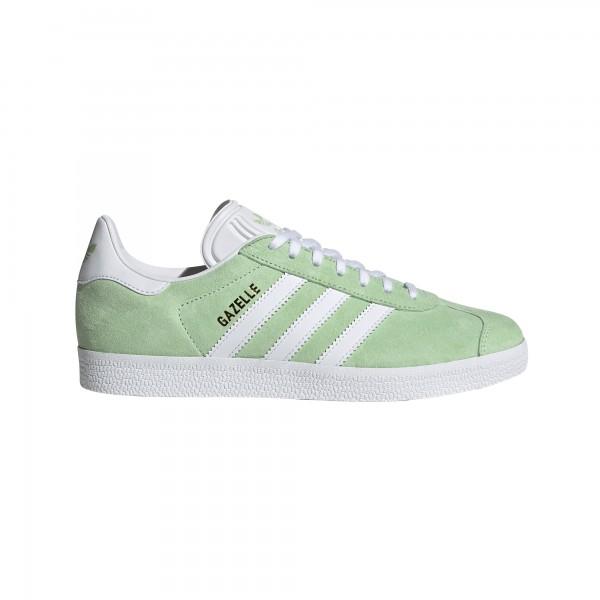"adidas Gazelle W ""GLOW GREEN / CLOUD WHITE / GOLD METALLIC"" EE5534"
