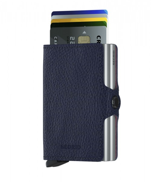 "SECRID Twinwallet Vegetable Tanned ""Navy"""