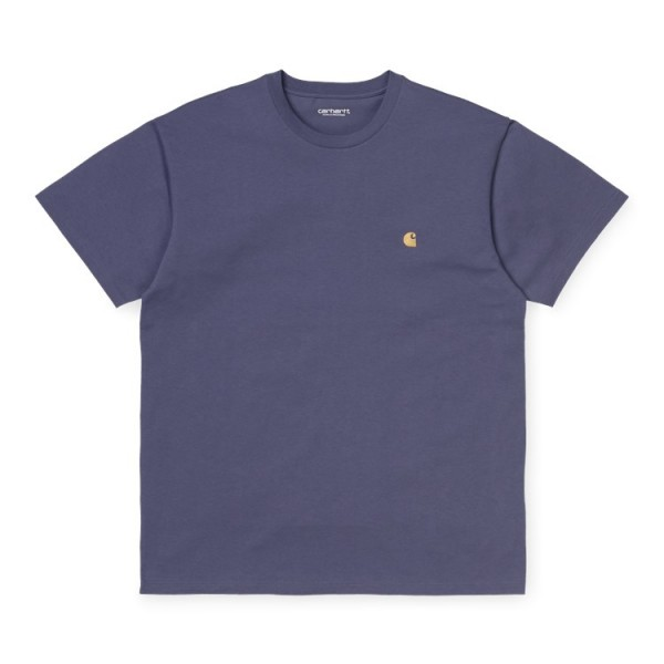 "Carhartt WIP S/S Chase T-Shirt ""Cold Viola / Gold"" I026391"