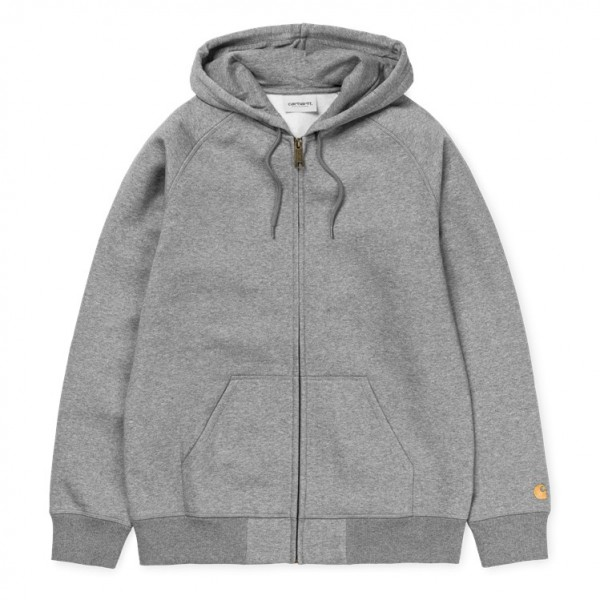 "Carhartt WIP Hooded Chase Jacket ""Grey Heather"" I026385"