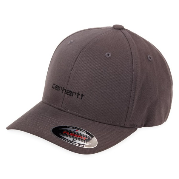 "Carhartt WIP Script Cap ""Blacksmith / Black"" I026309"