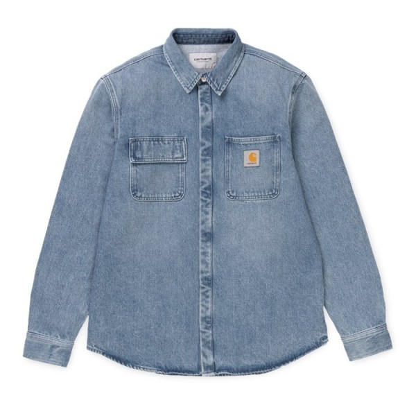 "Carhartt WIP Salinac Shirt Jacket ""Blue light stone washed"" I023977"