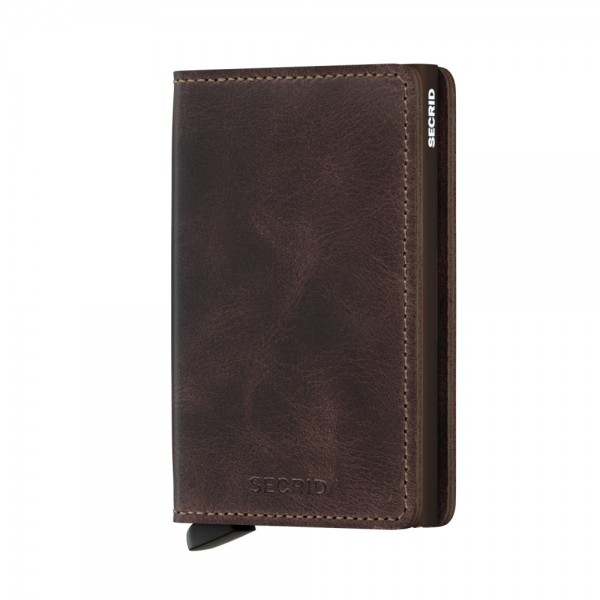 "SECRID Slimwallet Vintage ""Chocolate"""