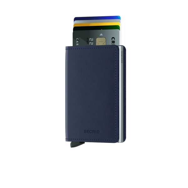"SECRID Slimwallet Original ""Navy"""