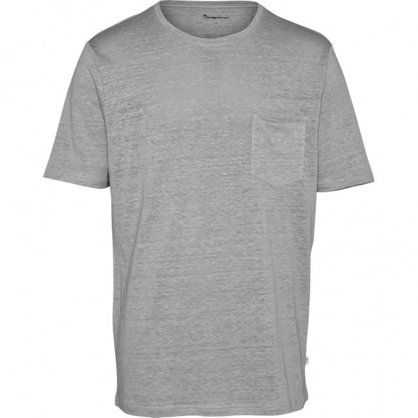 "Knowledge Cotton Linen Pocket Tee ""Grey Melange"" 10373"