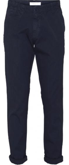 """Knowledge Cotton Chuck Regular Stretched Chino Pant """"Total Eclispe"""" 70230"""