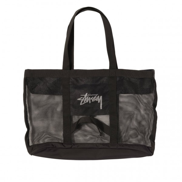 "Stussy Mesh Beach Tote Bag ""Black"" 134222"