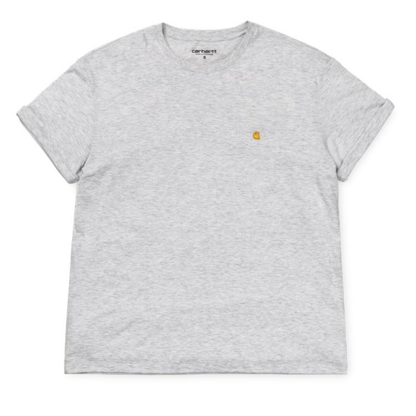 "Carhartt WIP W´S/S Chase T-Shirt ""Ash Heather"" I023698"
