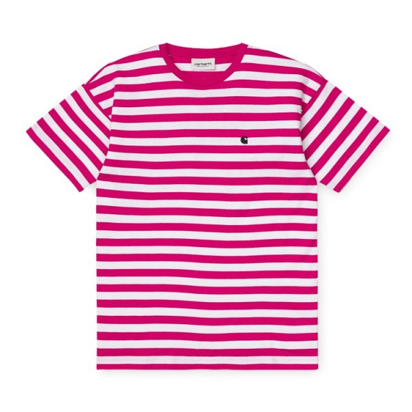 "Carhartt WIP W´S/S Scotty T-Shirt ""Scotty Stripe, Rudy Pink/White"" I027841"