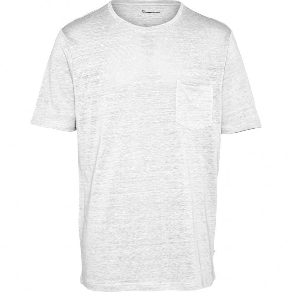 "Knowledge Cotton Linen Pocket Tee ""Bright White"" 10373"